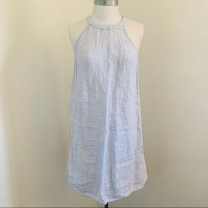 St Tropez West Linen Chambray Beach Cover Dress Sm